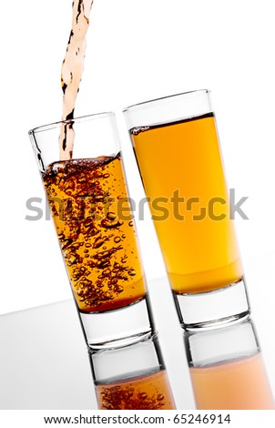 Pouring alcohol in the glass