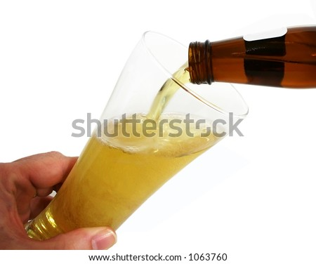 Pouring Beer - stock photo
