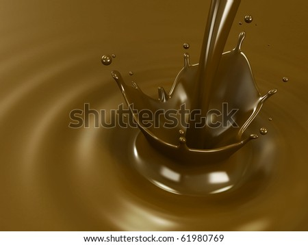 Pouring chocolate or cocoa