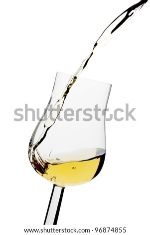 Pouring glass - stock photo