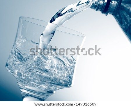 Pouring healthy water