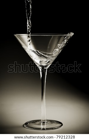 Pouring Martini - stock photo