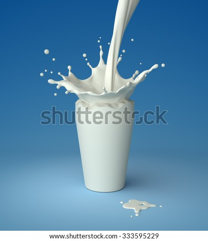 Pouring milk into invisible glass