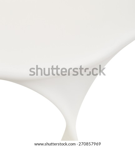 Pouring milk on white, abstract background - stock photo