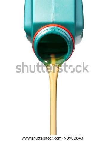 pouring oil - stock photo
