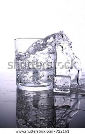 Pouring out water - storm in glass of water - stock photo