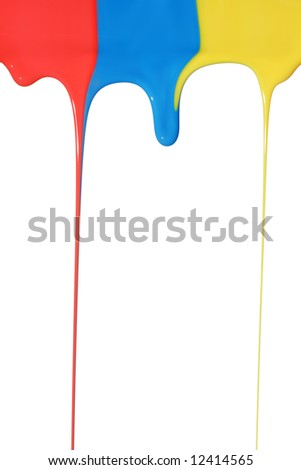 Pouring primary colors - stock photo