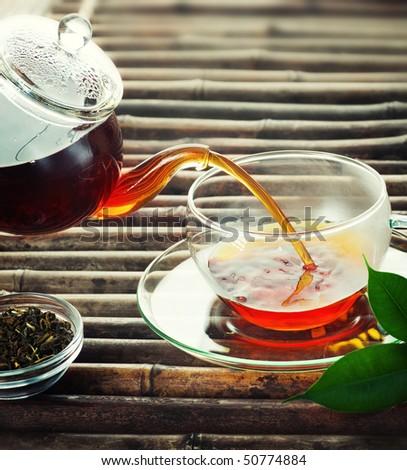 Pouring Tea - stock photo