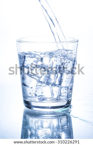 Pouring Water into Glass.