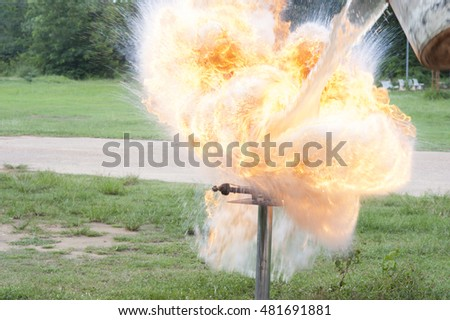 pouring water on hot oil, explosion occurred