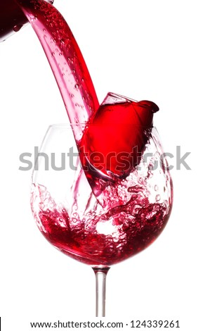 Pouring wine.