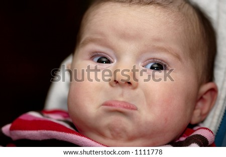Pouting Baby Face - stock photo
