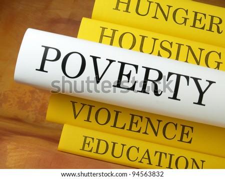 Poverty (book reviews) - stock photo