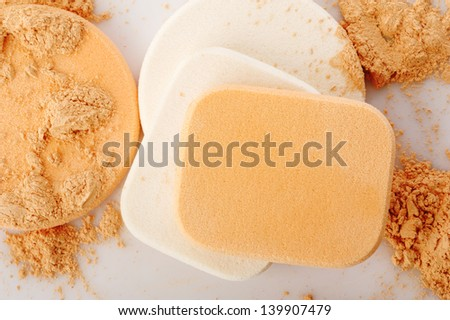 powder and cosmetic sponges