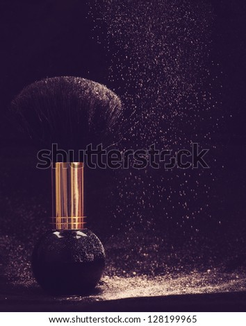 Powder dreams. Abstract makeup and cosmetic backgrounds - stock photo