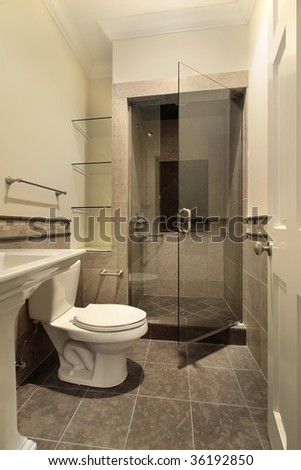 Powder room with shower