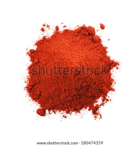 Powdered dried red pepper - stock photo