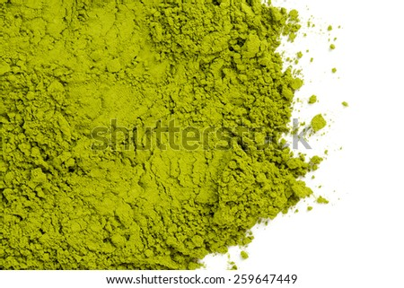 powdered green tea Matcha - stock photo