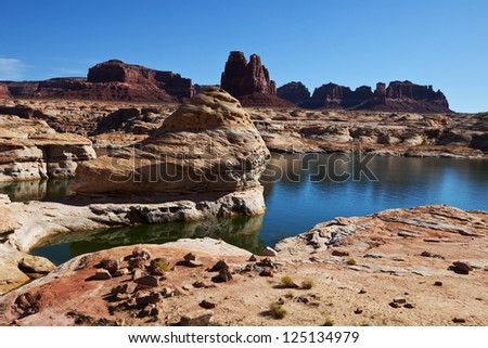 Powell Lake in USA - stock photo