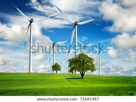 Power and ecology in the nature - stock photo