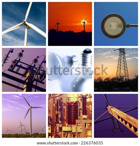 Power and energy concepts - stock photo