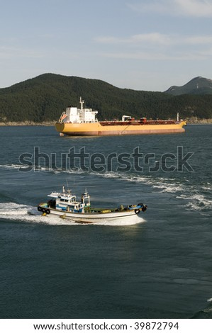 Power and gas industry - crude oil tanker - stock photo