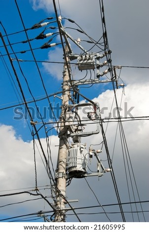 Power and Telecommunications Lines - stock photo