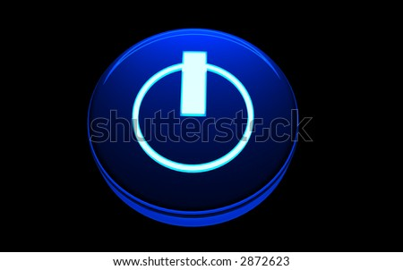 power button - stock photo