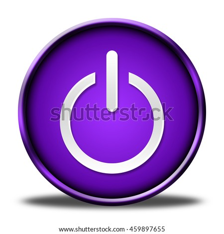 power button isolated. 3D illustration  - stock photo