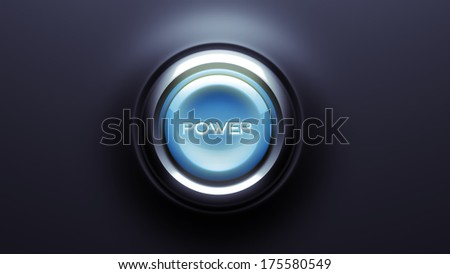 Power Button isolated on dark background - stock photo