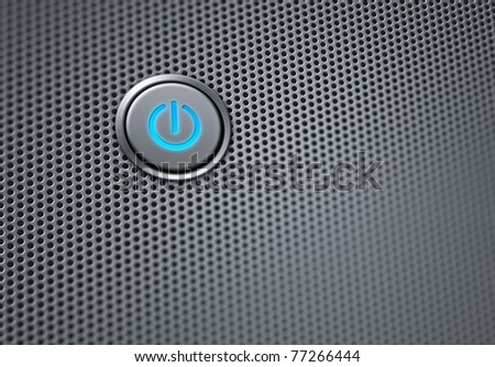 power button macro with narrow focus - stock photo