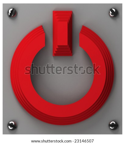 Power button (top view) - stock photo