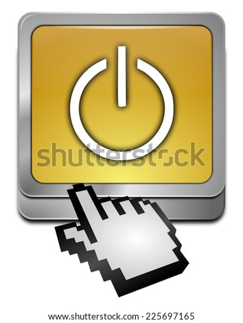Power Button with cursor