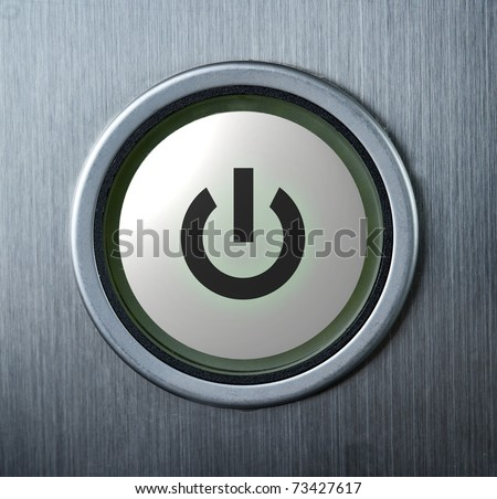 Power button with icon - stock photo