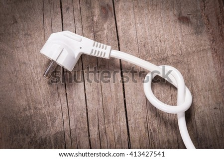 Power cable - stock photo
