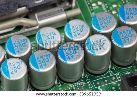 Power Capacitor - stock photo