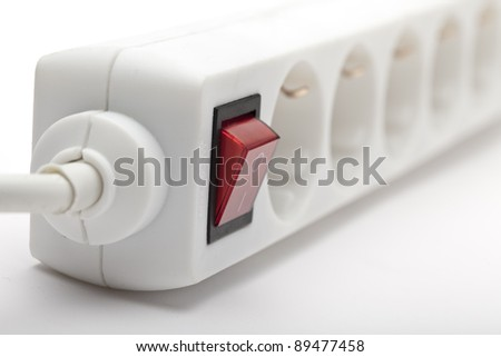 power connector against white background - stock photo