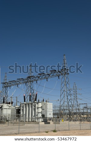 Power distribution system - stock photo