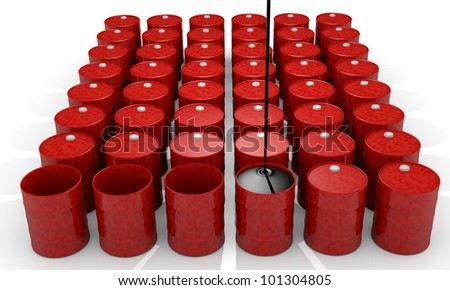 Power, energy and fuel industry image: oil barrel - stock photo