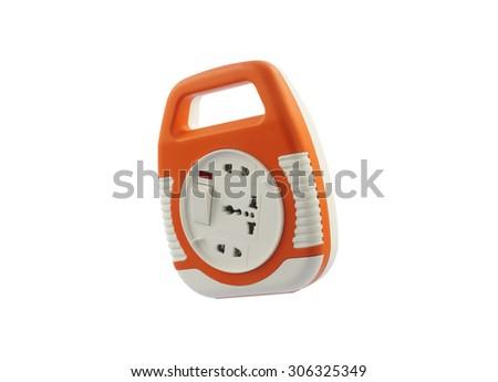Power extension socket - stock photo