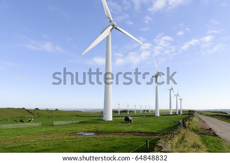 Power generation wind farm 35m in height to the hub and have a rotor diameter of 37m on Royd Moor