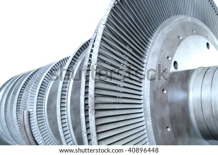 Power generator turbine - stock photo