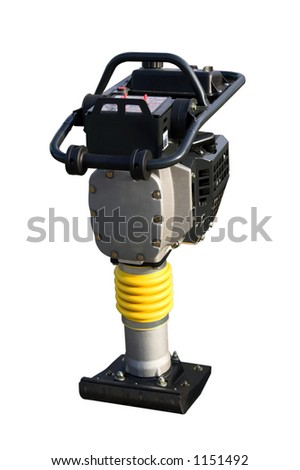 Power hand compactor isolated on white background with clipping path
