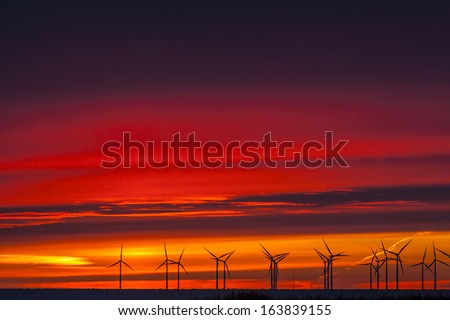 Power in a natural environment - stock photo
