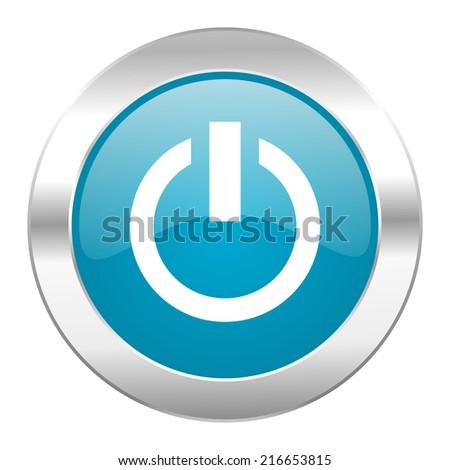 power internet blue icon