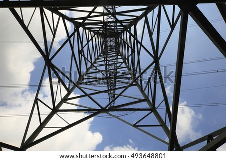 Power line, Power, line, electricity, cable