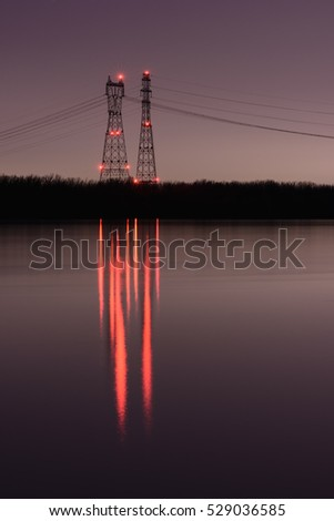 Power Line Tower at Canal de Beauharnois