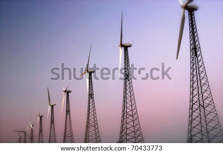 Power Lineup - stock photo