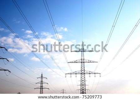 Power Mast - stock photo