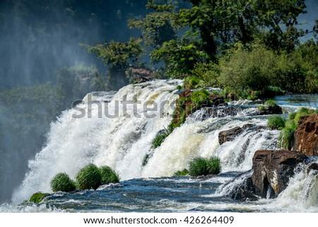 Power movement of Iguazu falls, Peurto Iguazu , Argentina - stock photo